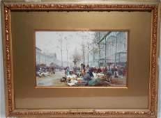 Eug�ne Galien Laloue , Watercolor and Gouache
