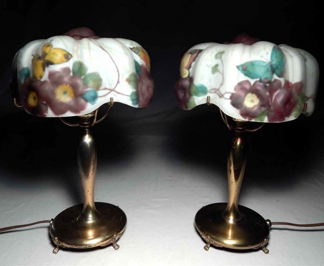 Pair of Pairpoint Puffy Lamps.