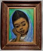 Juan De'prey (Puerto Rico 1904-1962) Pastel on Paper