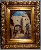 "19c. Orientalist Oil on Canvas, signed ""E K"""