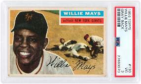 WILLIE MAYS 1950s TOPPS PSA GRADED LOT OF FIVE CARDS.