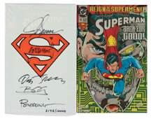SUPERMAN MODERN COMIC BOOKS SIGNED PAIR
