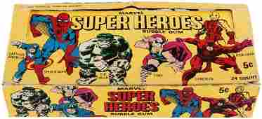 MARVEL SUPER HEROES DONRUSS GUM CARD SET  BOX