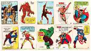"""MARVEL SUPER HERO STICKERS"" PHILADELPHIA CHEWING GUM S"