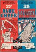 BLUE CHEER & SANTANA 1968 CONCERT POSTER.