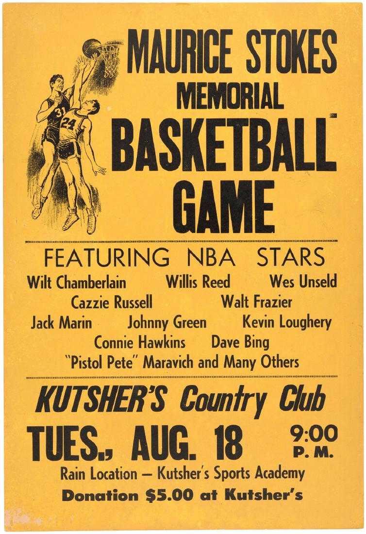 Maurice Stokes Memorial Basketball Game 1970 Pos Johnny 5 Bing Images