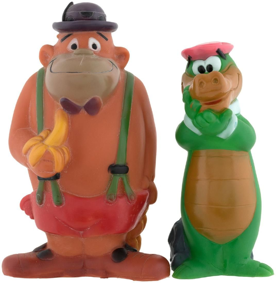 HANNA-BARBERA CHARACTERS SQUEAK TOY LOT.