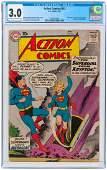 """ACTION COMICS"" #252 MAY 1959 CGC 3.0 GOOD/VG (FIRST SU"