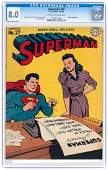 """SUPERMAN"" #27 MARCH-APRIL 1944 CGC 8.0 VF."