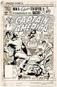 """CAPTAIN AMERICA"" #265 MIKE ZECK COMIC COVER ORIGINAL A"