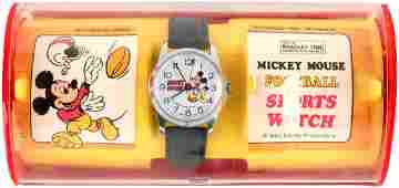 MICKEY MOUSE FOOTBALL SPORTS WATCH IN BRADLEY PLASTIC