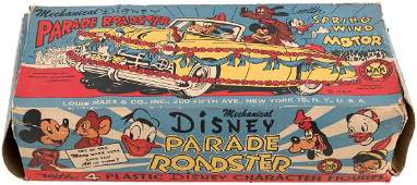 """""""DISNEY PARADE ROADSTER"""" BOXED MARX WIND-UP."""