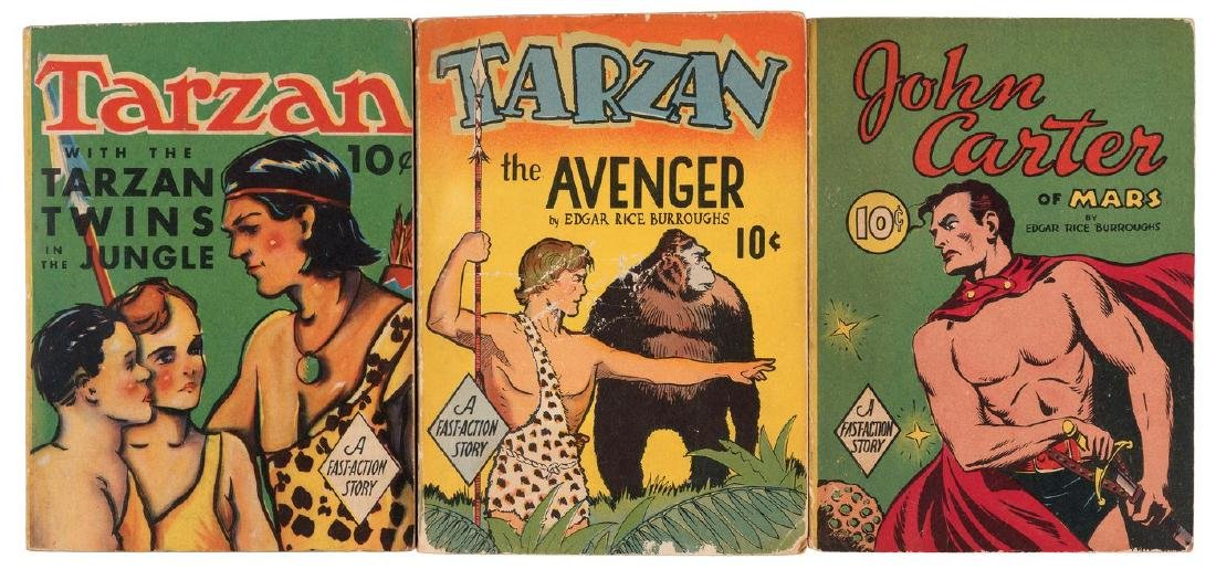 TARZAN & JOHN CARTER OF MARS FAST-ACTION BOOK TRIO.