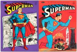 SUPERMAN & SUPERBOY WHITMAN COLORING BOOKS & BOXED CRAY