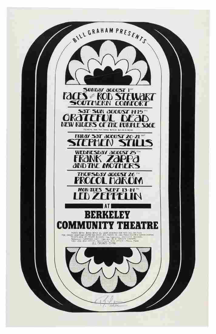 """BILL GRAHAM PRESENTS"" 1973 CONCERT POSTER FEATURING ZA"