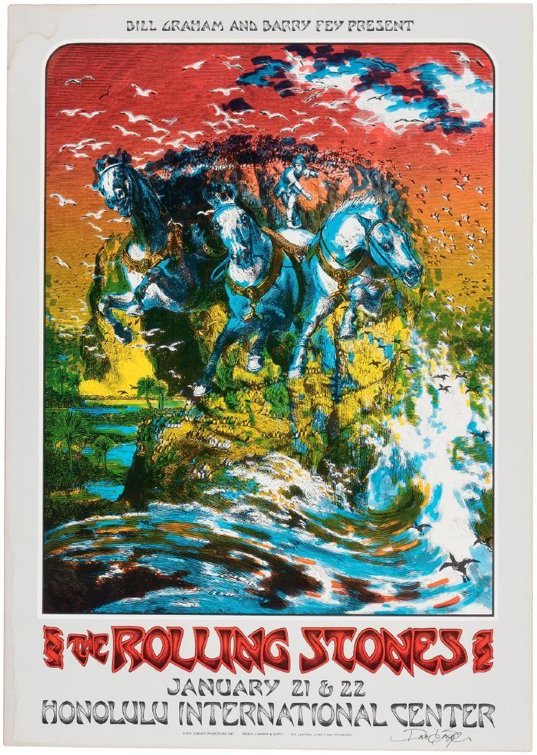 THE ROLLING STONES 1973 HONOLULU INTERNATIONAL CENTER C