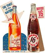 """""""TRIPLE COLA"""" & """"CAPITOL CLUB BEVERAGES"""" ADVERTISING SI"""