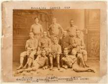 1884 BELLAIRE GLOBES BASEBALL TEAM PHOTO FEATURING NEGR