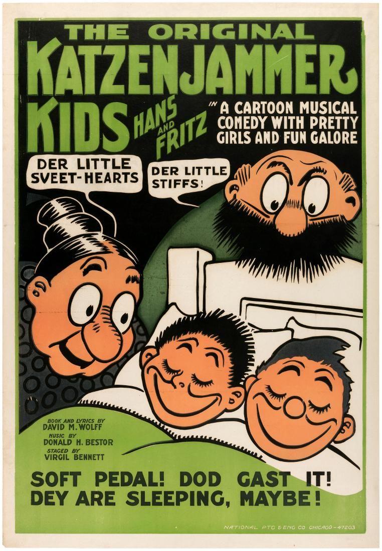 """THE ORIGINAL KATZENJAMMER KIDS HANS AND FRITZ"" LINEN-M"
