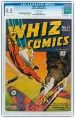 """WHIZ COMICS"" #15 MARCH 1941 CGC 4.5 VG+."