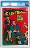 """SUPERMAN"" #35 JULY-AUGUST 1945 CGC 8.5 VF+ CROWLEY COP"