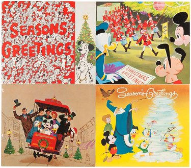 Disney Christmas Cards.Walt Disney Studio Christmas Cards For 1960 1969