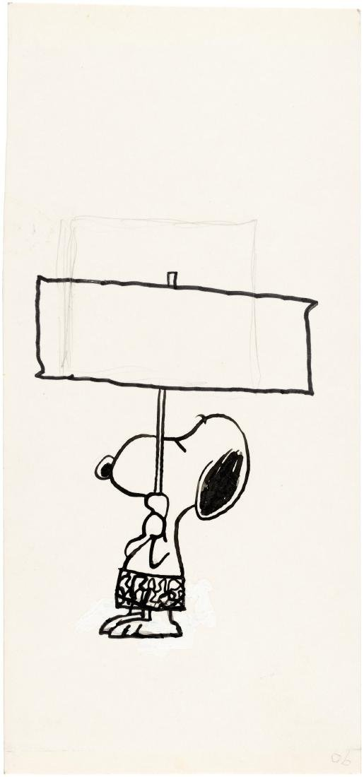 "CHARLES SCHULZ ""PEANUTS"" SNOOPY BUTTERNUT BREAD ADVERTISING ORIGINAL ART."