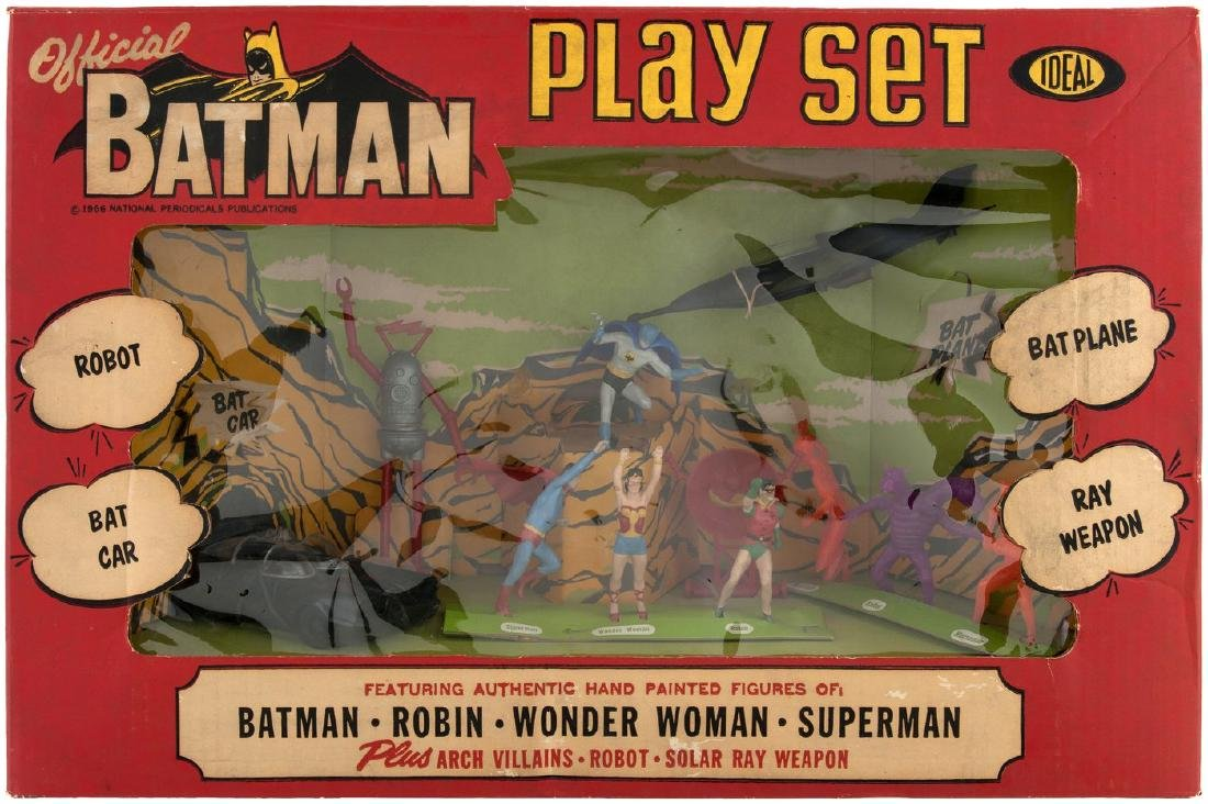 "IDEAL ""OFFICIAL BATMAN PLAY SET"" ORIGINAL ISSUE BOXED SET."