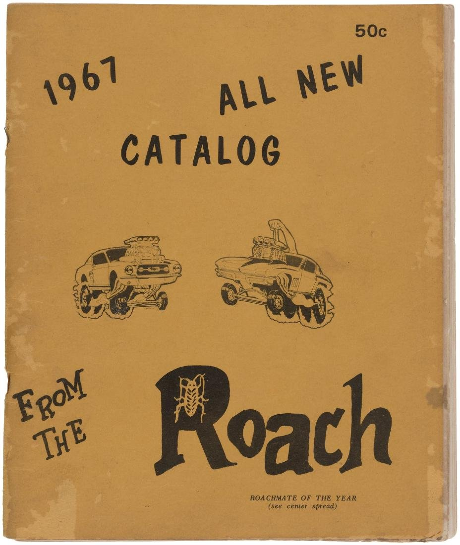 ROACH STUDIOS 1967 CATALOG WITH MONSTER/HOT ROD SHIRTS.
