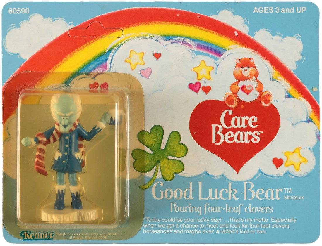 CARE BEARS KENNER PROFESSOR COLDHEART ENGINEERING PILOT CARD.