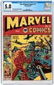 """""""MARVEL MYSTERY COMICS"""" #11 SEPTEMBER 1940 CGC 5.0 VG/FINE."""