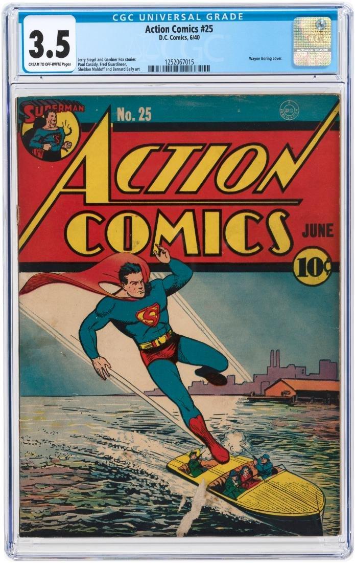 """ACTION COMICS"" #25 JUNE 1940 CGC 3.5 VG-."