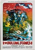 THE ROLLING STONES 1973 HONOLULU INTERNATIONAL CENTER CONCERT POSTER