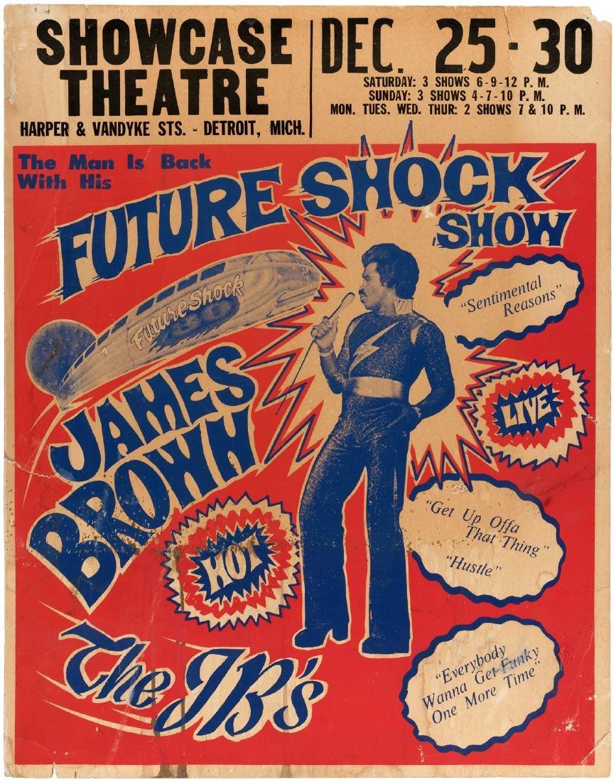 "JAMES BROWN ""FUTURE SHOCK SHOW"" 1975 CONCERT POSTER."