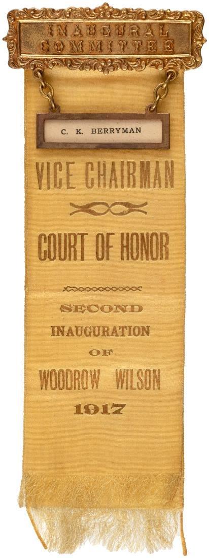 "CARTOONIST CLIFFORD BERRYMAN'S 1917 WILSON ""INAUGURAL"