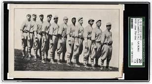 1913 GOLDSMITH'S ALL-NATIONS BASEBALL CLUB PC W/HOF