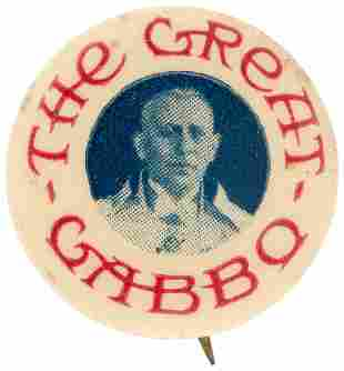 THE GREAT GABBO 1929 BUTTON FOR EARLY SOUND MOVIE