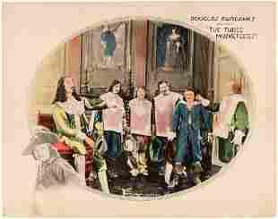DOUGLAS FAIRBANKS THE THREE MUSKETEERS LOBBY CARD