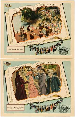 JAMES WHALES SHOW BOAT LOBBY CARD PAIR