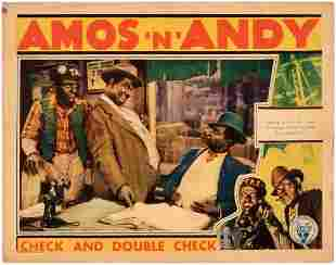 AMOS N ANDY CHECK AND DOUBLE CHECK LOBBY CARD