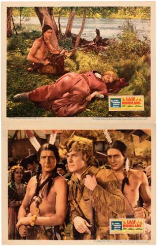 RANDOLPH SCOTT THE LAST OF THE MOHICANS LOBBY CARD