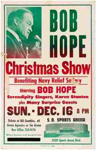 BOB HOPE CHRISTMAS SHOW 1973 CONCERT POSTER