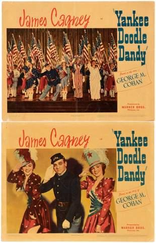 JAMES CAGNEY YANKEE DOODLE DANDY LOBBY CARD PAIR