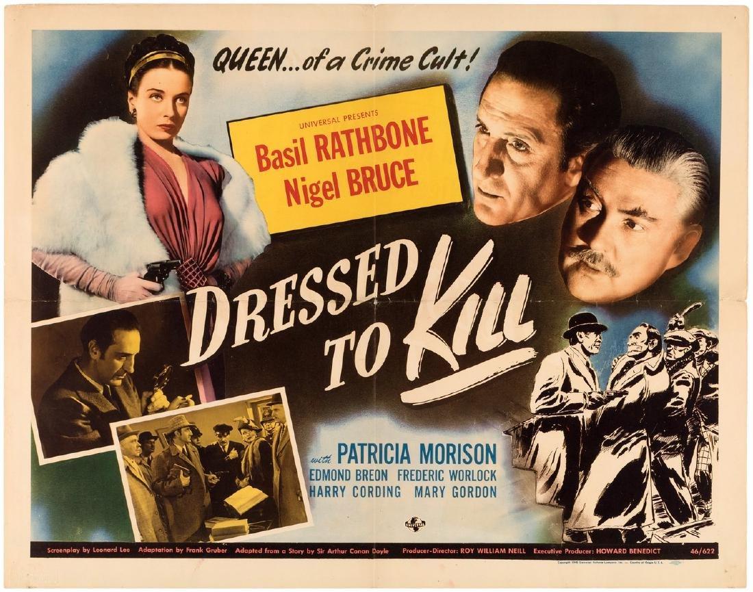 "BASIL RATHBONE SHERLOCK HOLMES ""DRESSED TO KILL"""
