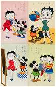 BETTY BOOP WITH MICKEY  MINNIE MOUSE RARE JAPANESE