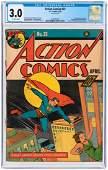 """""""ACTION COMICS"""" #23 APRIL 1940 CGC 3.0 GOOD/VG (FIRST"""