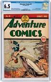 """ADVENTURE COMICS"" #41 AUGUST 1939 CGC 6.5 FINE+."