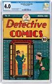 """DETECTIVE COMICS"" #25 MARCH 1939 CGC 4.0 VG."