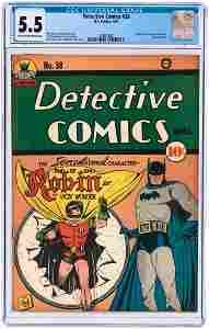 """DETECTIVE COMICS"" #38 APRIL 1940 CGC 5.5 FINE- (FIRST"