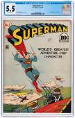 """""""SUPERMAN"""" #7 NOVEMBER 1940 CGC 5.5 FINE- (FIRST PERRY"""